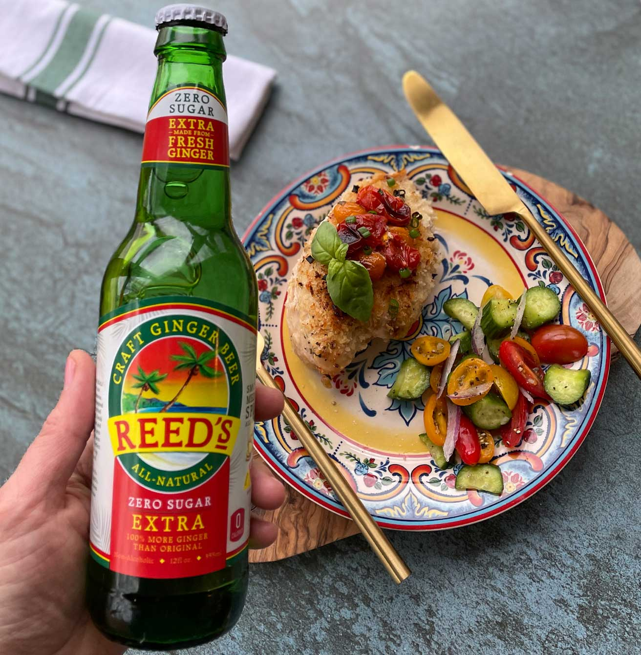 sunshine chicken with ginger beer